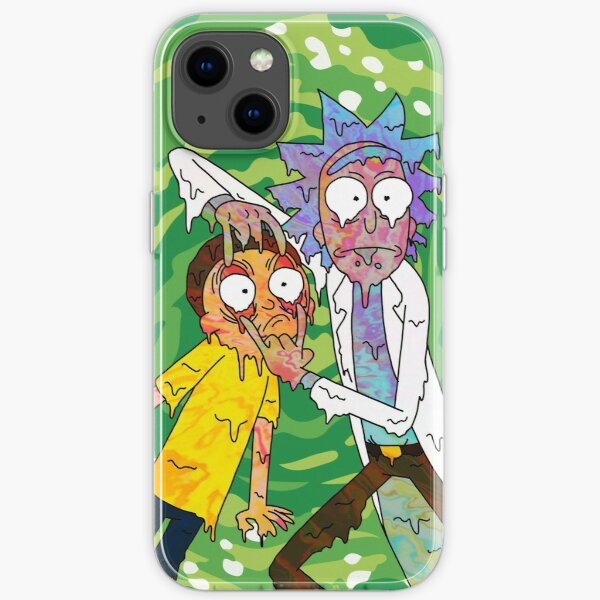 Trippy Rick and Morty  iPhone Soft Case