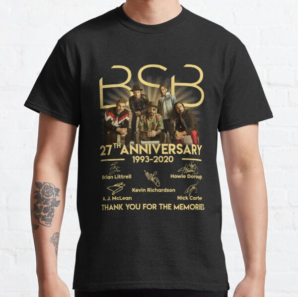 BSB.Backstreet Boys.27 ° aniversario 1993-2020 Signature Camiseta clásica