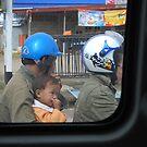 Blue Helmet by Sherion