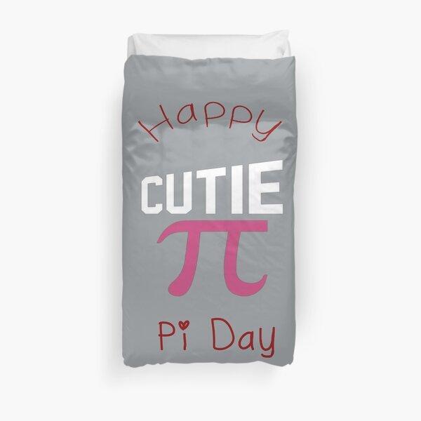 Happy Pi Day Cutie Pi Duvet Cover