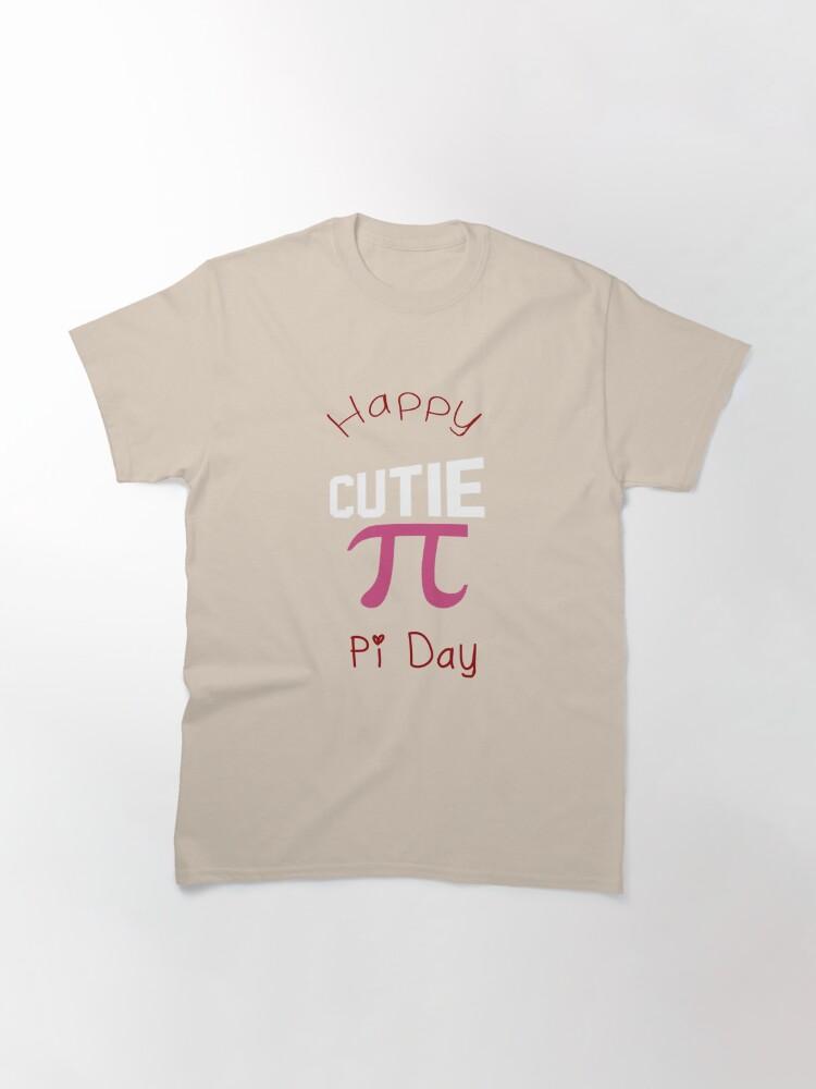 Alternate view of Happy Pi Day Cutie Pi Classic T-Shirt