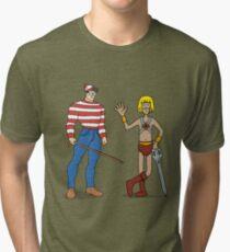 Where's Wal-Man? Tri-blend T-Shirt