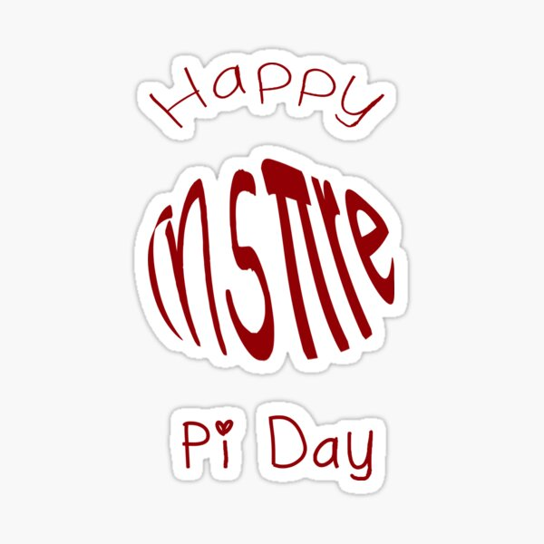 Inspire Happy Pi Day Sticker
