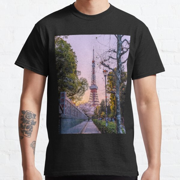 Tokyo - Fin de journée à la Tokyo Tower T-shirt classique