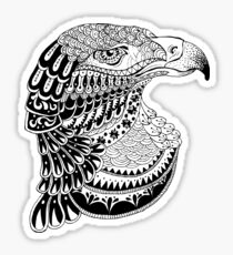 Zentangle eagle portrait. Sticker