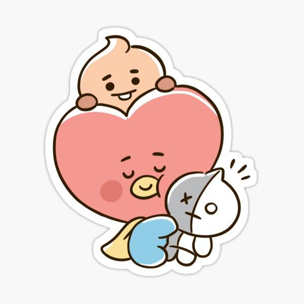"""""""Cute Shooky tata bt21 baby"""" Sticker by myoneandonly   Redbubble"""