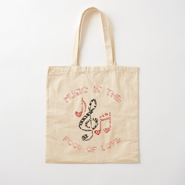Music Is The Food Of Love Cotton Tote Bag