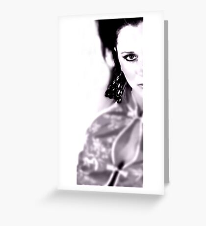 Whether these eyes can lie..? Greeting Card