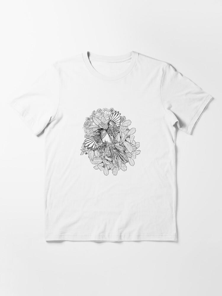 Alternate view of Magpies birds in my garden Essential T-Shirt