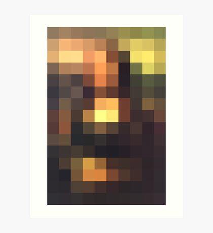 Monalisa unconsituted Art Print