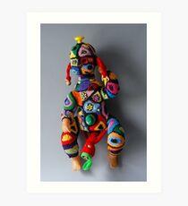 Muzzled doll  Art Print