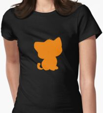 BeBe Kitty in orange Womens Fitted T-Shirt