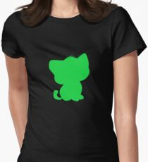 BeBe Kitty in green Womens Fitted T-Shirt