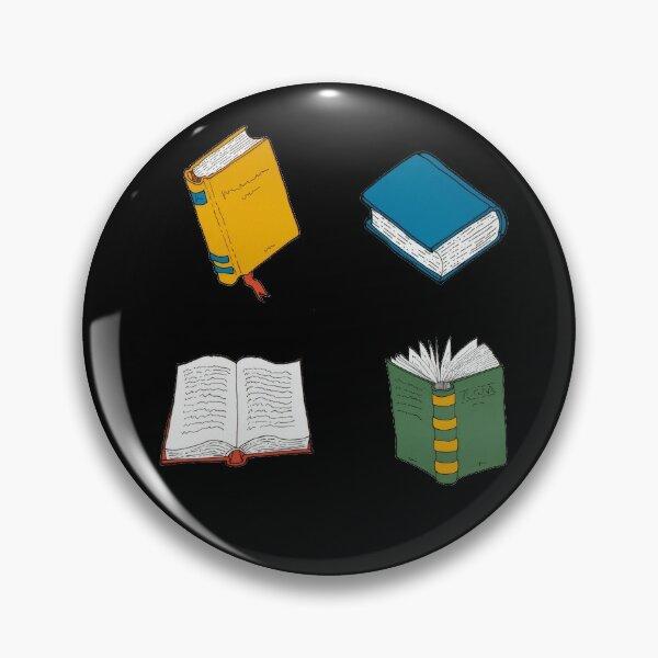Books pattern 1 black background  Pin