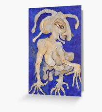 Cadeau Bleu Greeting Card
