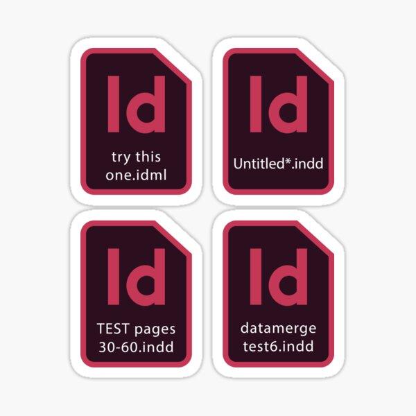 InDesign Files every designer knows Sticker