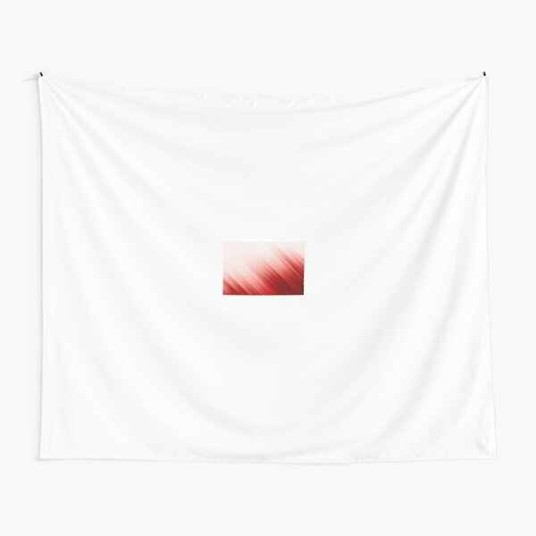 Red and White Background Tapestry
