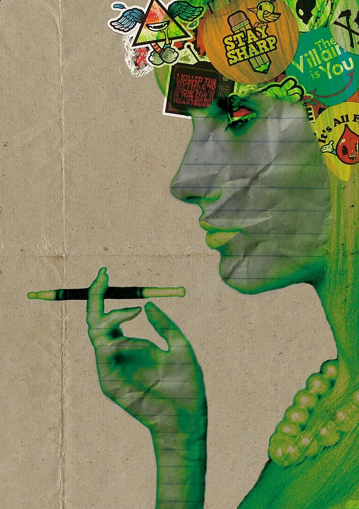 Retro Girl Paper Faced by designkat