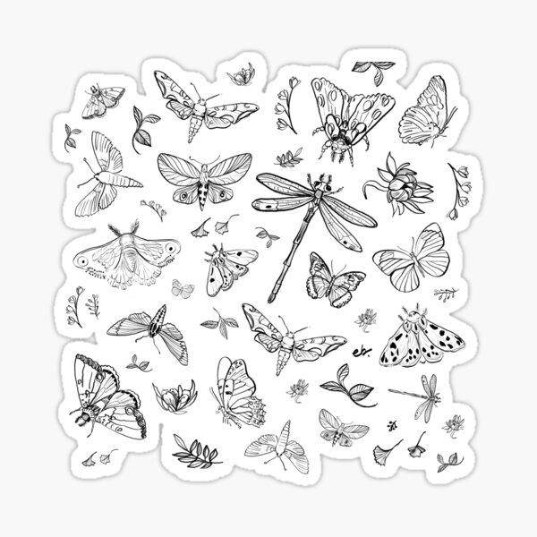 Butterfly,Moth, Dragonfly pattern Sticker
