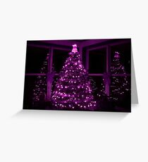 PURPLE CHRISTMAS Greeting Card
