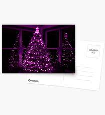 PURPLE CHRISTMAS Postcards