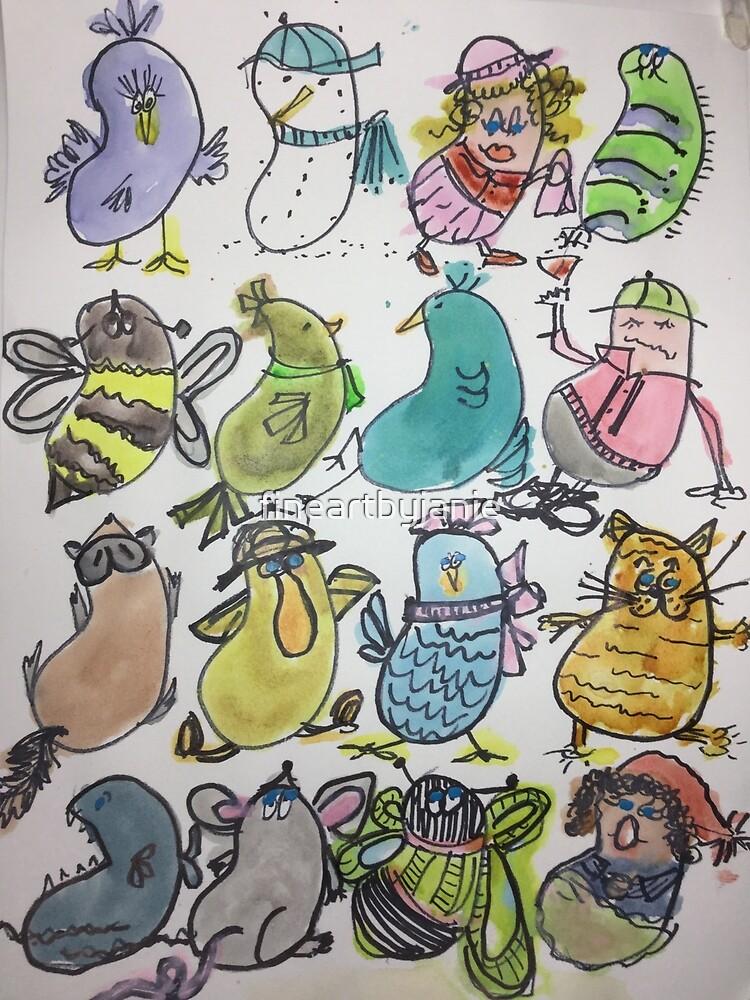 Kidney Doodles  by fineartbyjanie