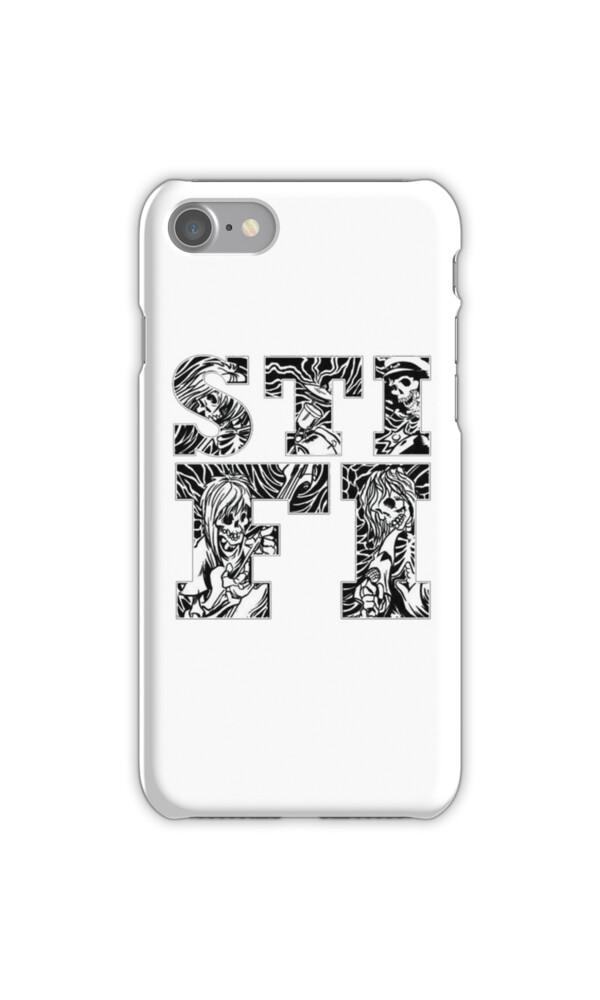 u0026quot sticky fingers  logo  w   skeleton background u0026quot  iphone