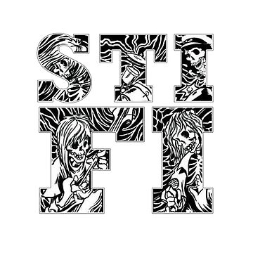 Sticky Fingers (Logo) w/ Skeleton Background by dales17