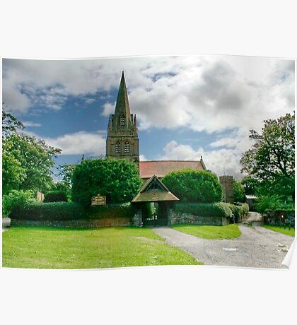St. Bartholomew Thurstaston Wirral Cheshire Poster