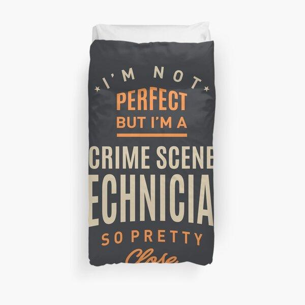 Crime Scene Technician Work Job Title Gift Duvet Cover