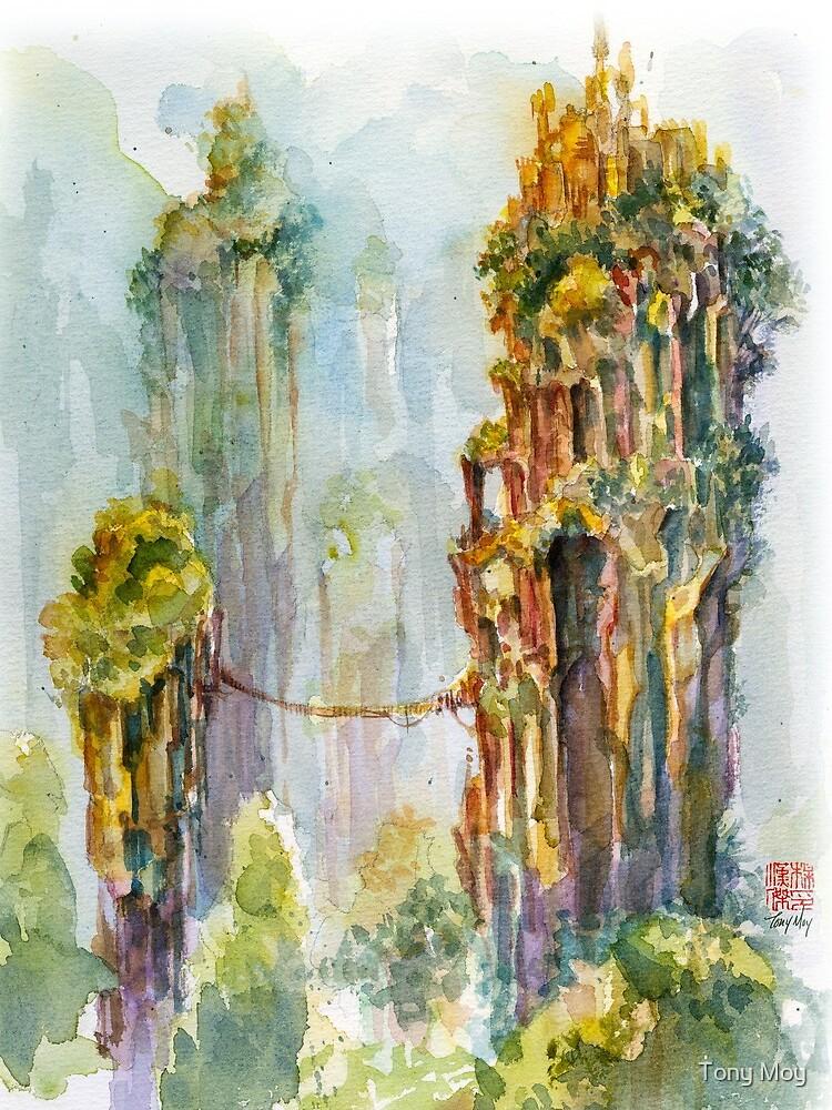 Pillars of Angae - Watercolor Art by Tony Moy by tony-moy