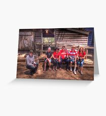 Rumble We Will Go - Red Bubble Rumble - Australian Pioneer Village  Greeting Card