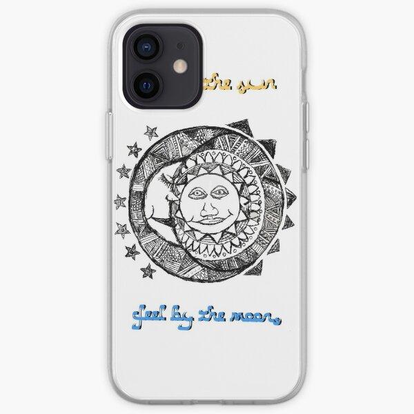 Sun moon drawing  iPhone Soft Case