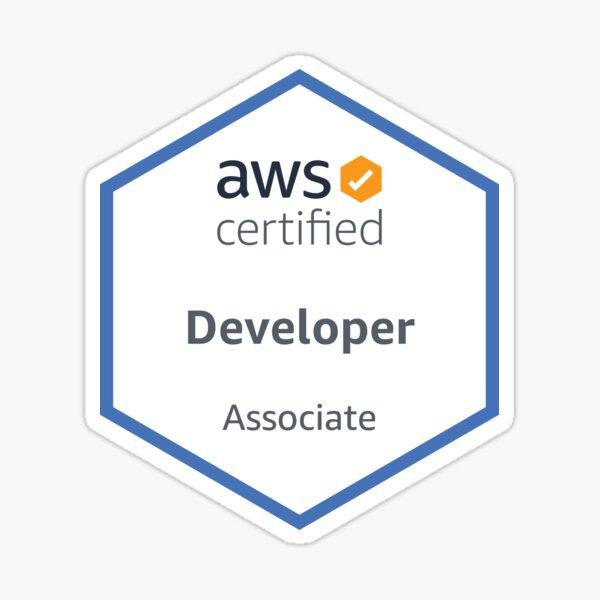 Desarrollador certificado por AWS Asociado Pegatina