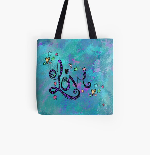 LOVE 2.20 All Over Print Tote Bag