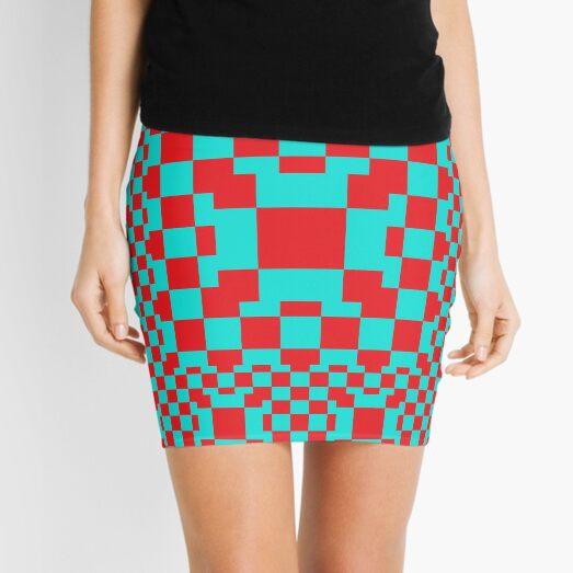 Red Squares Mini Skirt