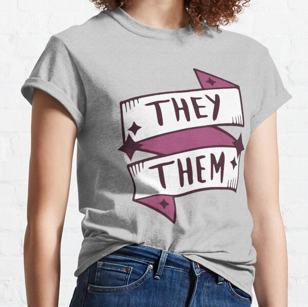 They Them Theirs Respect My Pronouns t-shirt Quote Non Binary Gender queer Pride