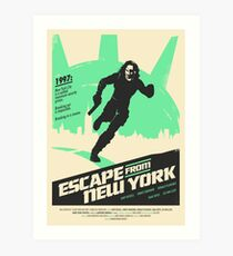 Escape From New York (1981) Custom Poster Art Print
