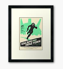 Escape From New York (1981) Custom Poster Framed Print