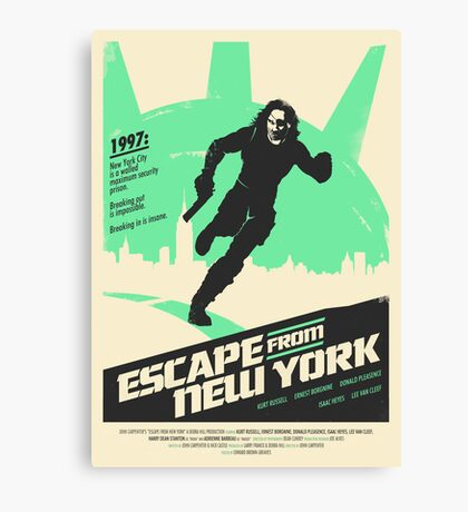 Escape From New York (1981) Custom Poster Canvas Print