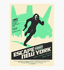 Escape From New York (1981) Custom Poster Photographic Print