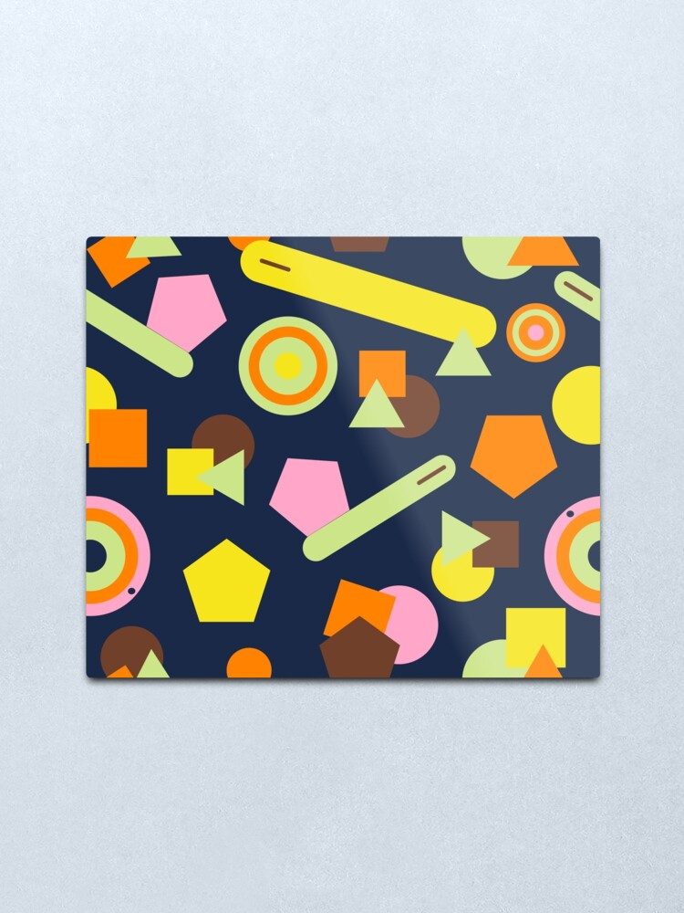 Alternate view of Geometric Sweets Metal Print