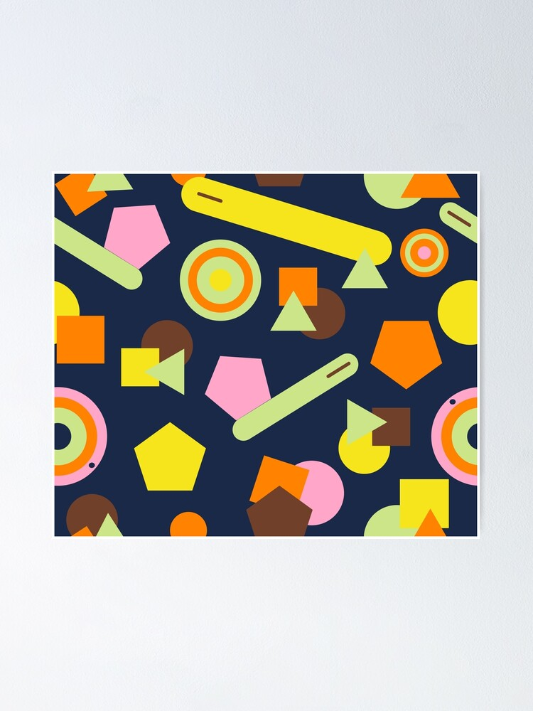 Alternate view of Geometric Sweets Poster