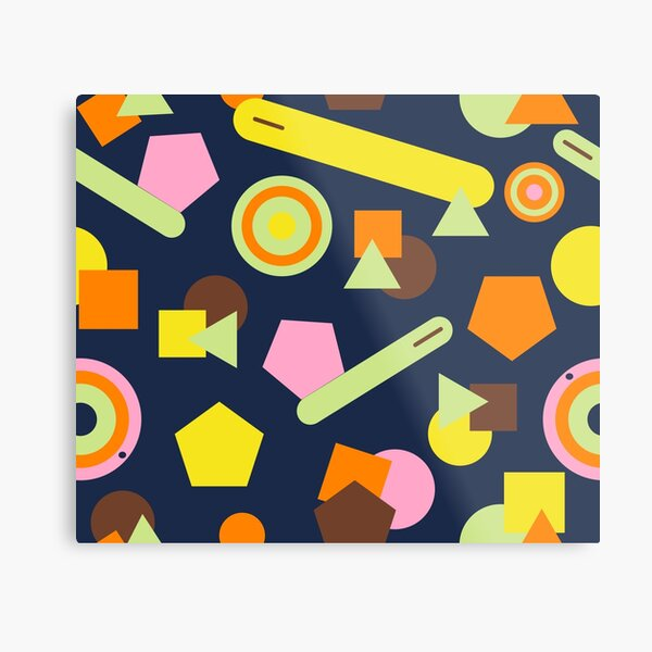 Geometric Sweets Metal Print