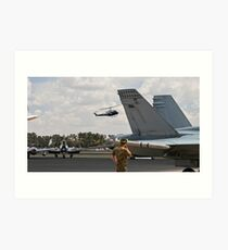 Worried?  Nah, not me they will miss the Hornet! Art Print