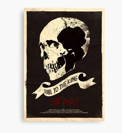 Evil Dead 2 (1987) Custom Poster Variant Canvas Print