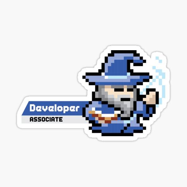 8-bit AWS Certified Developer Associate Sticker