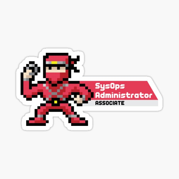 8-bit AWS Certified SysOps Administrator Associate Sticker