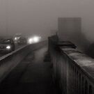 a misty walk into Totton - over the bridge 2 by DARREL NEAVES