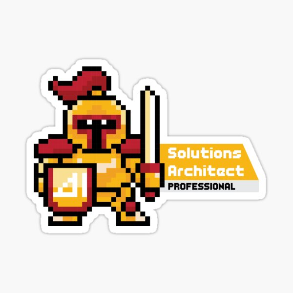 8-bit AWS Certified Solutions Architect Professional Sticker
